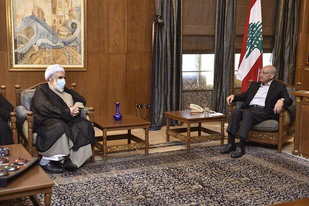 نبيه بري يستقبل ممثل قائد الثورة والوفد الرسمي الايراني