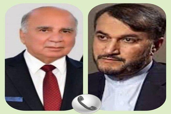 Iran, Iraq FMs discuss ties, region, recent Baghdad summit