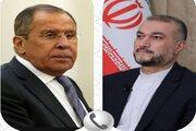 ایران اور روس کے وزراء خارجہ کی ٹیلیفون پر گفتگو
