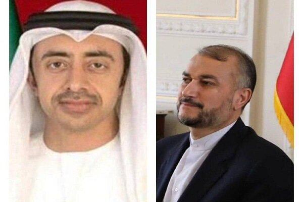 Iran-UAE FMs hold phone call to discuss bilateral relations