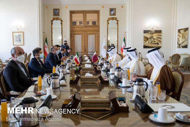 گفتگو وزرای خارجه ایران و قطر