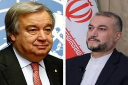 Emir Abdullahiyan, BM Genel Sekreteri ile telefonda görüştü