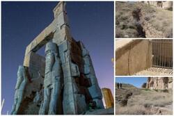 دوگانه برداشت آب و فرونشست در میراث جهانی فارس/ شکافهای اطراف تختجمشید همچنان باقی است
