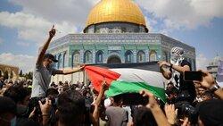 Filistinli esirlere destek gösterisi