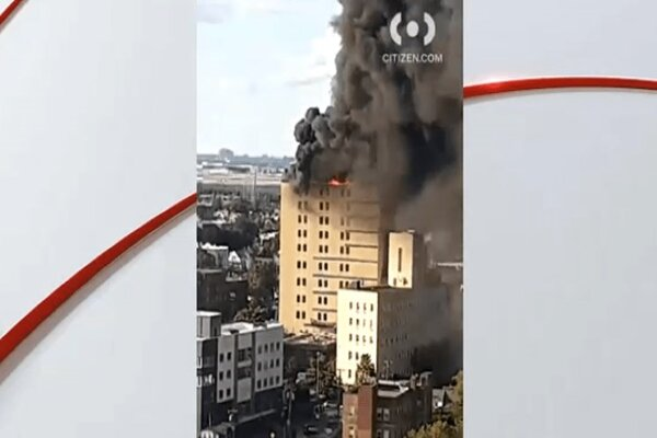 Massive fire breaks out at top floor of NYC hospital