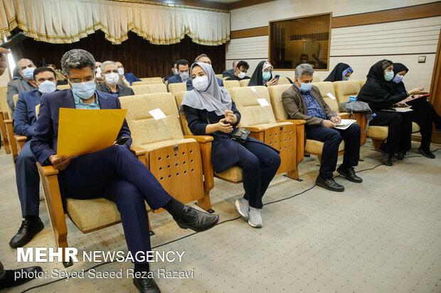 حضور خبرنگاران رسانه های مختلف در مراسم تودیع و معارفه مدیر عامل سازمان تامین اجتماعی