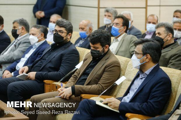 حضور حجت الله عبدالملکی وزیر تعاون، کار و رفاه اجتماعی درمراسم تودیع و معارفه مدیر عامل سازمان تامین اجتماعی