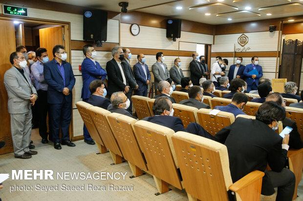حضور مدیران مختلف تامین اجتماعی در مراسم تودیع و معارفه مدیر عامل سازمان تامین اجتماعی