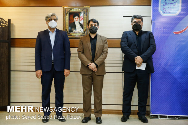 میرهاشم موسوی مدیر عامل جدید تامین اجتماعی ،حجت الله عبدالملکی وزیر تعاون، کار و رفاه اجتماعی، مصطفی سالاری مدیرعامل اسبق تامین اجتماعی