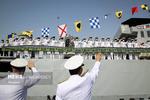 مجموعة القطع البحرية السابعة والسبعون ترسو في ميناء صلالة بسلطنة عمان