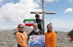 صعود تیم کوهنوردی بانوان لامردی به قله آراگاتس ارمنستان
