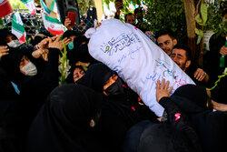 تشییع پیکر شهید مدافع حرم «محمد اینانلو»