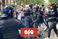 زد و خورد موافقان و مخالفان محدودیتهای کرونایی در فرانسه