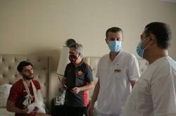 اقدام انساندوستانه تاجیکستانیها بعد از مصدومیت مهاجم پرسپولیس