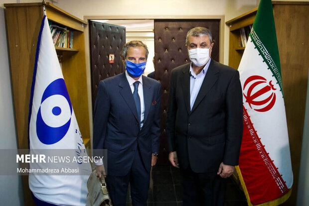 """المدير العام للوكالة الدولية للطاقة الذرية یلتقی """"محمد إسلامي"""" في طهران"""