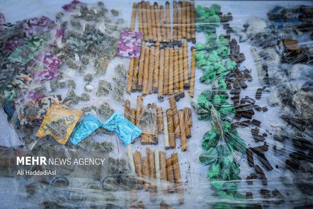 مواد مخدر کشف شده توسط پلیس مبارزه با مواد مخدر