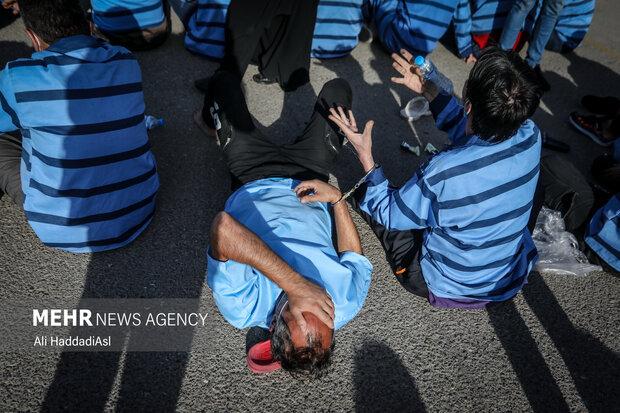مرحله سیزدهم طرح ظفر جمع آوری معتادین متجاهر در سطح شهر