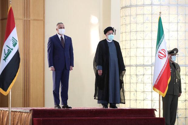 الرئيس الإيراني يستقبل رئيس الوزراء العراقي في طهران