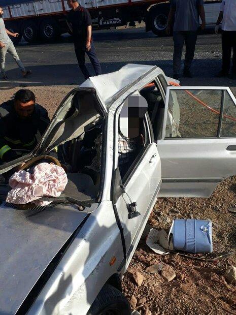 مرگ دلخراش راننده پراید در حادثه رانندگی کمربندی خرمآباد
