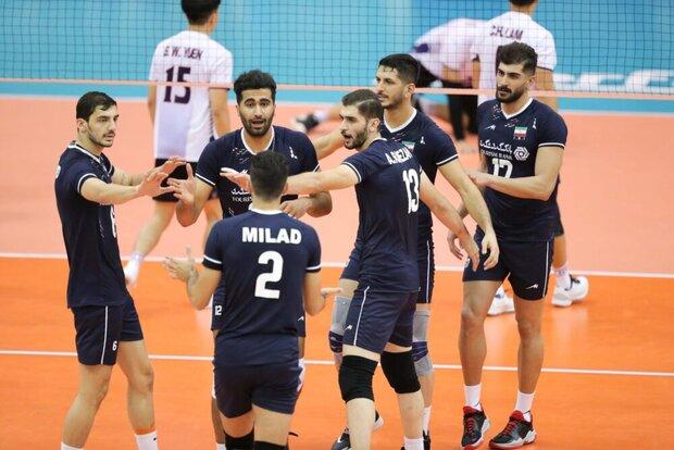 پیروزی تیم والیبال ایران برابر چین تایپه و صعود به عنوان صدرنشین