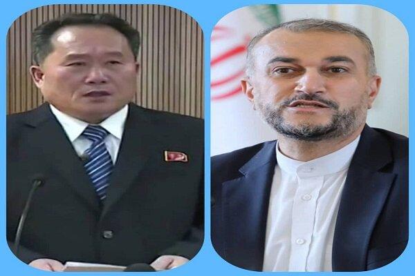 وزير خارجية كوريا الشمالية يهنئ عبداللهيان لتوليه منصبه الجديد