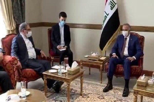شمخاني والكاظمي يؤكدان على ضرورة تطويرالعلاقات الثنائية بين ايران والعراق
