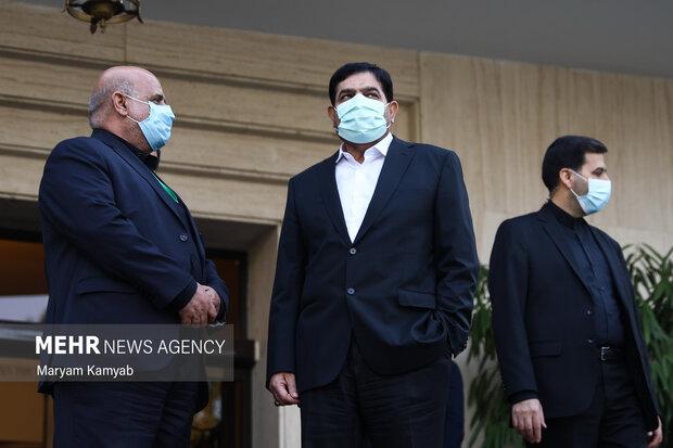 محمد مخبر معاون اول رئیس جمهور و ایرج مسجدی سفیر ایران در عراق