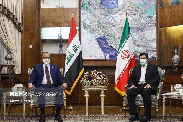 مصطفی الکاظمی نخست وزیر عراق و محمد مخبر معاون اول رئیس جمهور