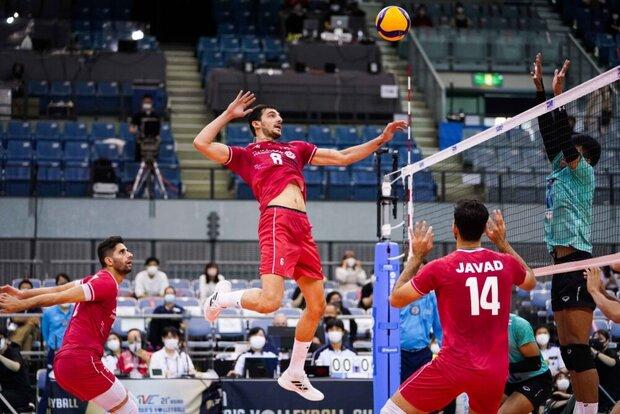 منتخب الطائرة الإيراني يسحق تايوان بثلاثية ويتأهل إلى الدور نصف النهائي