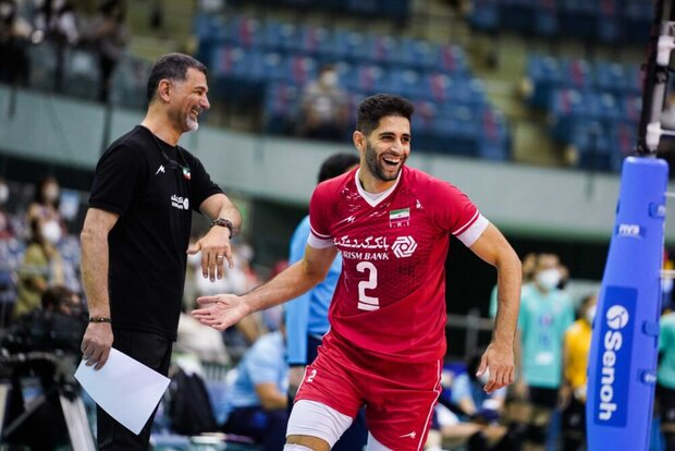 Iran gains 3rd consecutive victory in Asian volleyball c'ship
