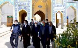حضور اعضای کمیسیون فرهنگی مجلس در آستان حضرت عبدالعظیم(ع)