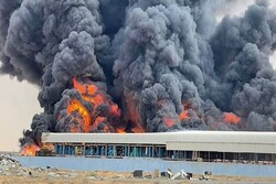 Massive fire reported in UAE northern coastal industrial town