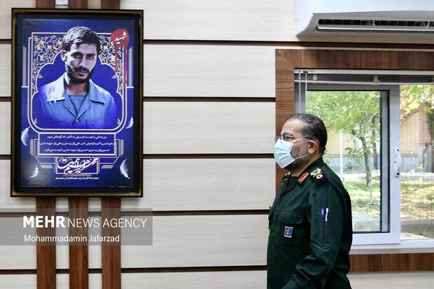 غلامرضا سلیمانی رییس سازمان بسیج مستضعفین در مراسم رونمایی از بازی مختار فصل قیام حضور دارد