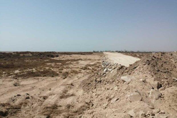 تخریب ساحل  گناوه توسط حفاظت محیط زیست  متوقف شد