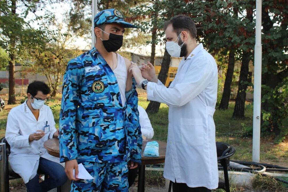 واکسیناسیون سربازان پایگاه هوایی شهید لشکری مهرآباد سرعت گرفت