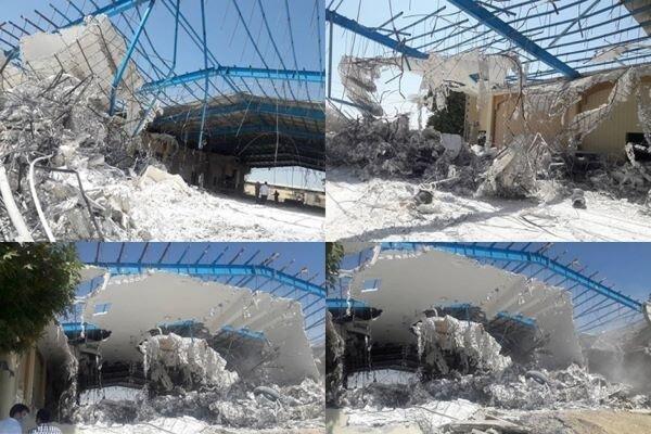 باغ تالار لوکس 1000 متری در شهریار تخریب شد