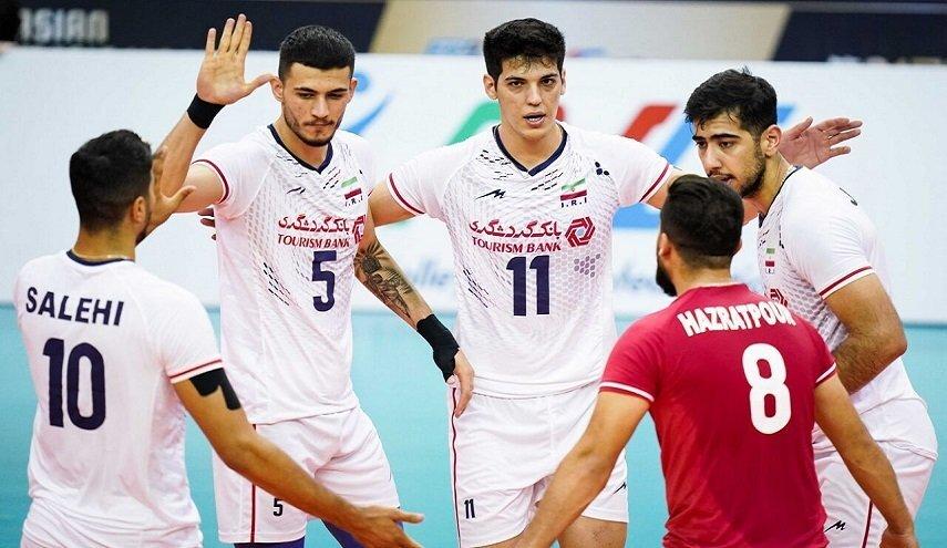 المنتخب الايراني يتأهل للمرحلة الثانية من بطولة آسيا للكرة الطائرة