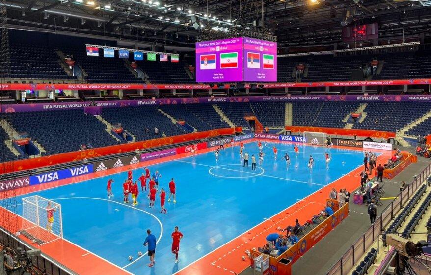 پیروزی یک نیمهای تیم ملی فوتسال ایران مقابل صربستان