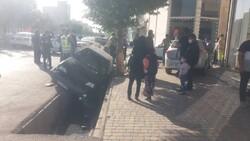 تصادف زنجیره ای ۳ خودرو در اردبیل خسارت بر جا گذاشت