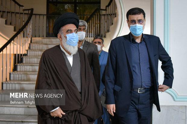 دیدار رئیس بنیاد شهید با جانبازان مرکز ثارالله 5