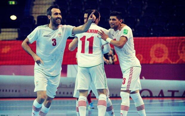 پیروزی تیم ملی فوتسال ایران مقابل آمریکا در نیمه نخست