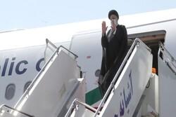 President Raeisi arrives in Dushanbe