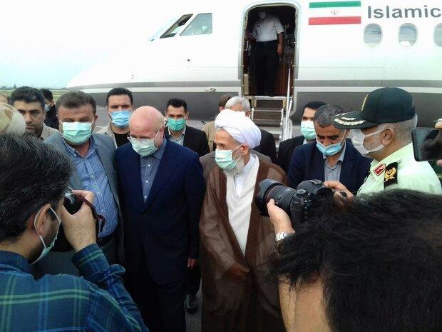 ایرانی پارلیمنٹ کے اسپیکر مازندران پہنچ گئے