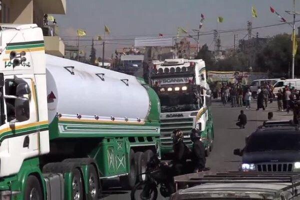 بخش دوم کاروان سوخت ایران وارد لبنان شد