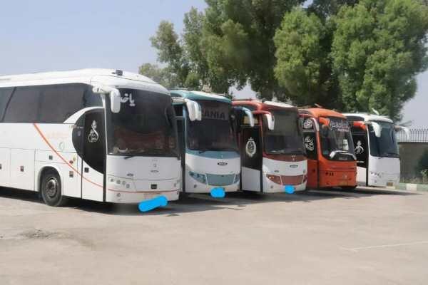 ۴۰۰ دستگاه اتوبوس از فردا در مرز مهران مستقر می شود