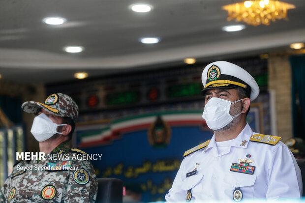 امیر شهرام ایرانی فرمانده نیروی دریای ارتش در مراسم اختتامیه نوزدهمین دوره رزم مقدماتی ارتش حضور دارد
