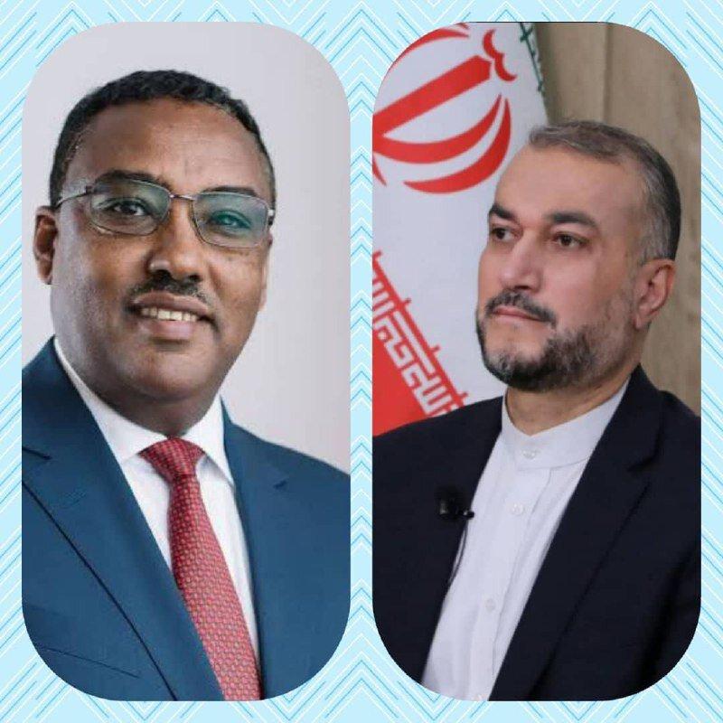 وزیر خارجه اتیوپی به امیرعبداللهیان تبریک گفت