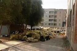 زبالههای دپو شده در بیمارستان ایذه مربوط به بخش خصوصی هستند