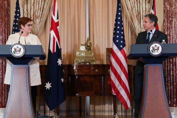 آمریکا در برابر فشارهای چین در کنار استرالیا می ایستد