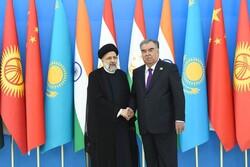 Rahmon thanks Raeisi for attending  SCO summit in Dushanbe